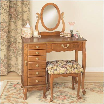 Oak Makeup Vanity Table Bedroom Expressions Furniture Row Bedroom Furniture High Resolution