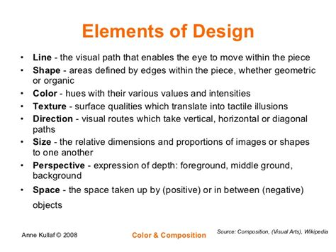 layout elements definition color composition
