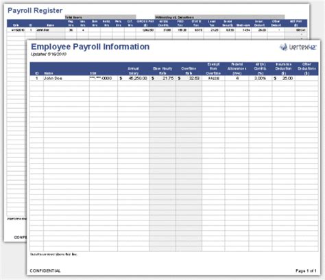 payroll template free employee payroll template free and software