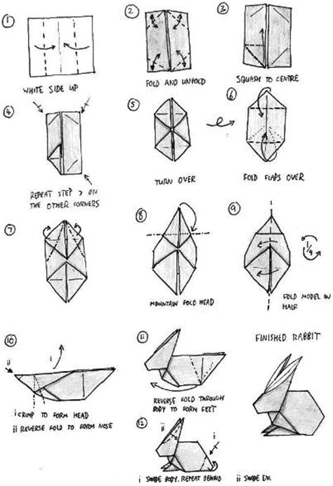 Easy Origami Rabbit - rabbit origami how to origami easy origami