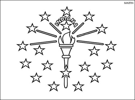 indiana university coloring page state of indiana clipart 29