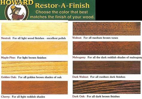 howard restor a finish color chart mad for mid century a restor a finish for broyhill furniture
