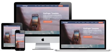bootstrap themes single page 5 free one page bootstrap templates 187 webnots