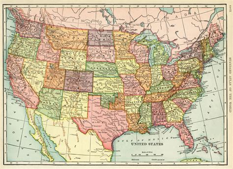 united states history map united states map vintage map antique map