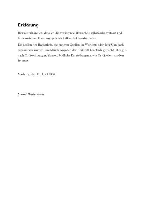 Vorlage Antrag Verlängerung Diplomarbeit Erkl 228 Rung 252 Ber Die Eigenst 228 Ndige Erstellung Der Hausarbeit I Wissenschaftliches Arbeiten Org