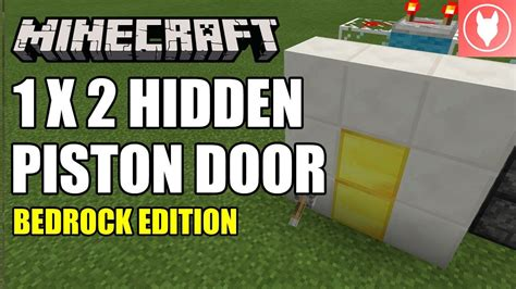 minecraft bedrock hidden piston door  jeb door