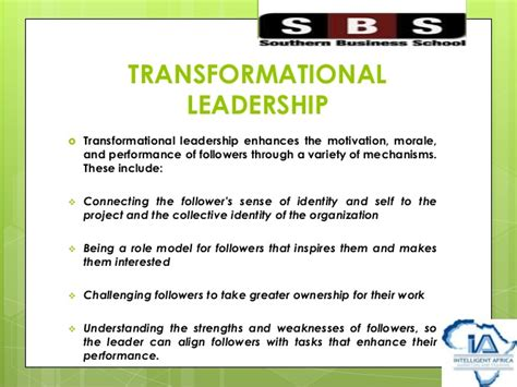 Intellectual Stimulation For Higher Education Mba by Leadership Development In Higher Education