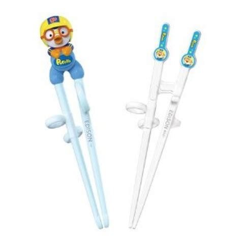 Edison Chopsticks Sumpit Anak Pororo edison chopsticks 2 stages set pororo babyonline