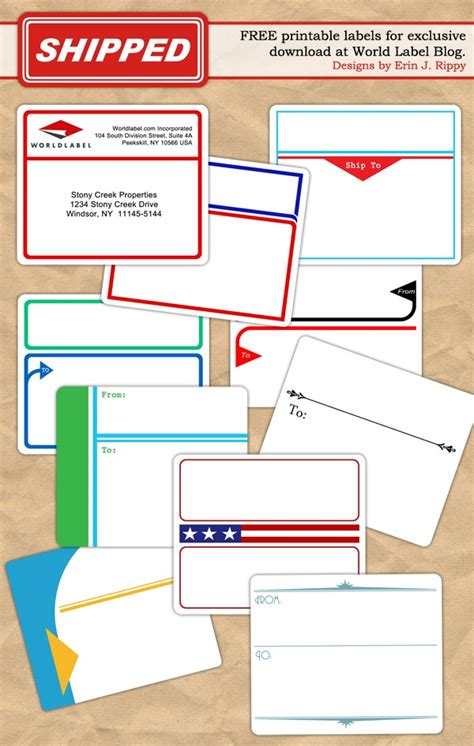 printable labels templates label design