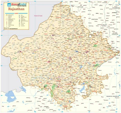 rajsthan maps buy rajasthan map printed on vinyl at low prices in