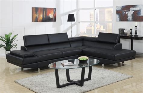 designer sofa clearance selma black leather modern sectional sofa chicago furniture