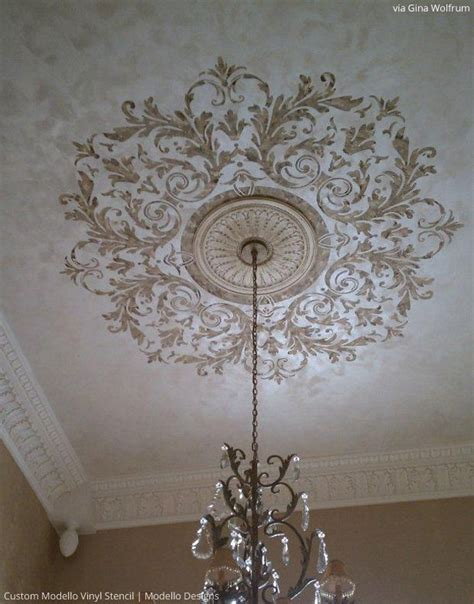 stenciled ceiling by wolfrum using custom modello