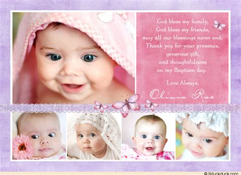 baby collage template studio design purple baptism thank you collage card precious