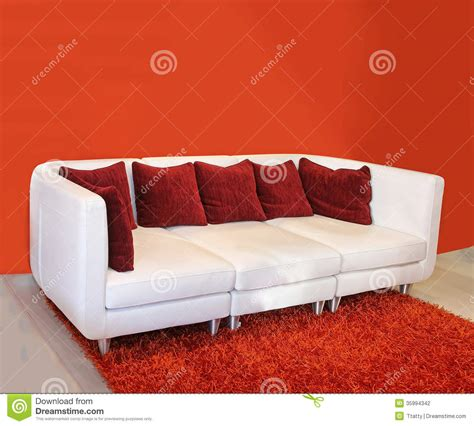 red cushions for sofa red cushion sofa stock photography image 35994342