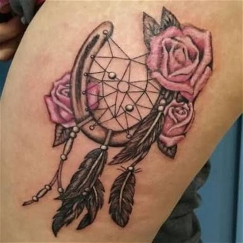 horseshoe dreamcatcher tattoo 17 best ideas about horseshoe tattoos on