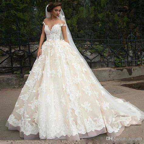 Lspowg65 Wedding Dress Quality new high quality lace appliques sleeves a line wedding dresses winner bridal