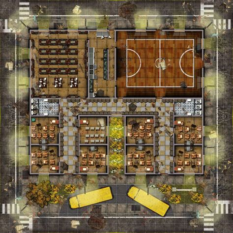 Bowling Alley Floor Plan zombie squad view topic zombie themed battle maps for