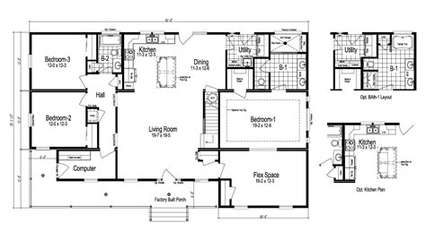 floorplan or floor plan the greenbrier ii manufactured home floor plan or modular