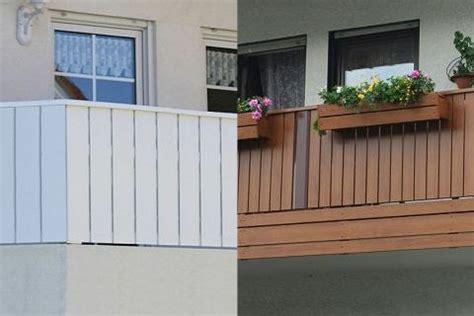balkongeländer bausatz balkonplatten holz kunststoff