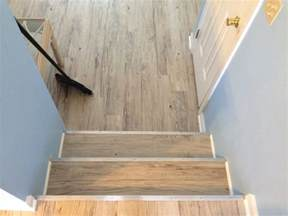 600sqft of konecto vinyl plank custom stair nose installation by shore floors 302 249 6617