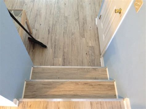 Vinyl Plank Flooring Stair Nose by 600sqft Of Konecto Vinyl Plank Custom Stair Nose
