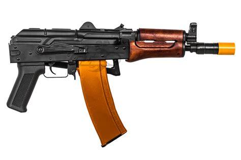 Airsoft Gun Aeg Classic Army Ak74u Carbine Aeg Airsoft Gun Black Wood