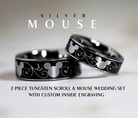 disney finds matching mickey wedding bands