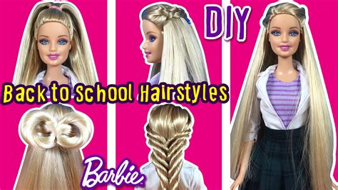Doll Hairstyles Tutorial by Back To School Hairstyles Of Doll Diy Hair