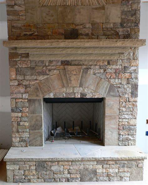 stack stone fireplace bukit