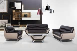 vig furniture divani casa 3035c modern leather sofa set
