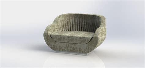 shell armchair upholstered shell armchair 3d model stl dwg sldprt sldasm slddrw cgtrader com