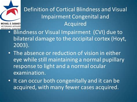 Congenital Blindness Definition kia b eldred od faao diplomate in low vision ppt