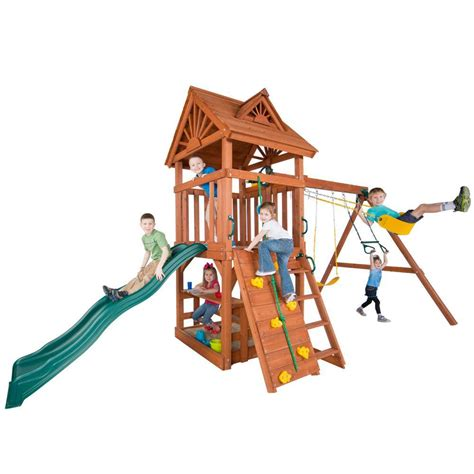 home depot swing sets installed swing n slide playsets do it yourself one hour custom play