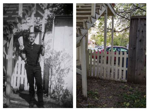 oswald backyard photo jfk crime scenes then and now toronto star
