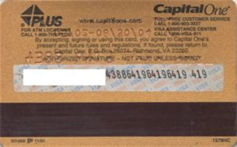 Capital One Visa Gift Cards - bank card capital one visa gold capital one united states of america col us vi 0110