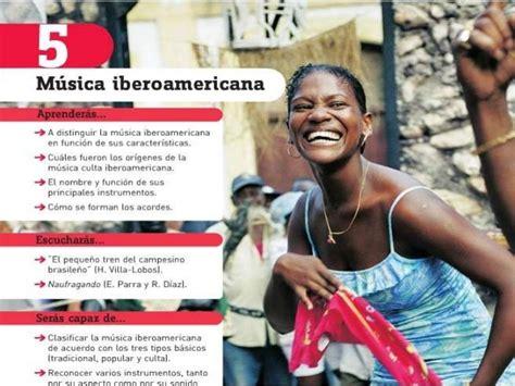 savia msica 5 educacin 8467574917 tema 5 m 250 sica iberoamericana