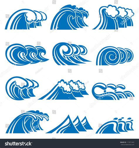 collection of simple wave vector illustration of illustration collection of sea waves 117071443
