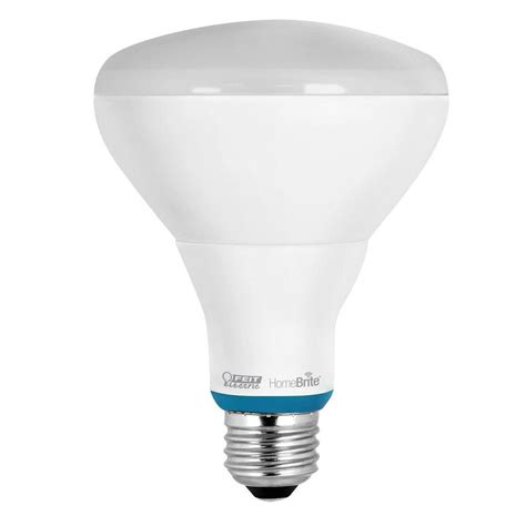 Feit Led Light Bulbs Feit Electric 65w Equivalent Soft White Br30 Dimmable Homebrite Bluetooth Smart Led Light Bulb