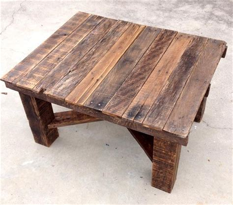 recycled wood pallet coffee table pallet furniture plans