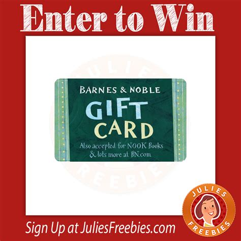 Barnes And Nobles Gift Card - goodshop s back to school giveaway julie s freebies