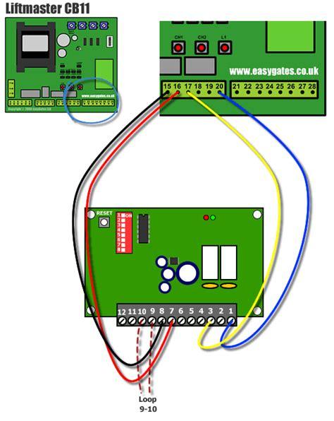 wiring diagram chamberlain liftmaster professional