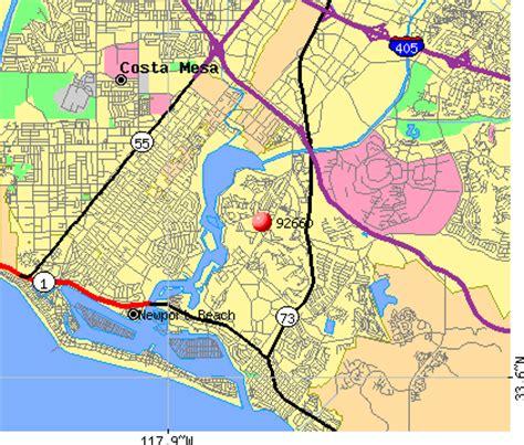 map newport california 92660 zip code newport california profile homes