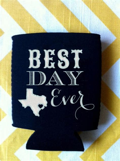 Best Day Ever  State Wedding Koozies (250 quantity)