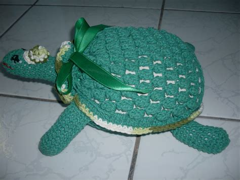 porta verde a turma do crochet tartaruga peso de porta verde