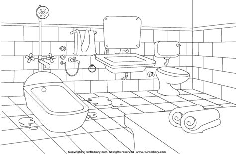 coloring page bathroom bathroom coloring sheet turtle diary