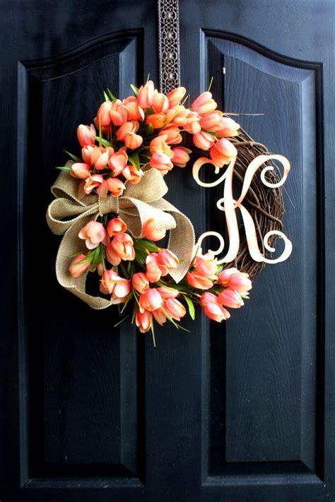 door wreaths for best 25 letter door wreaths ideas on initial