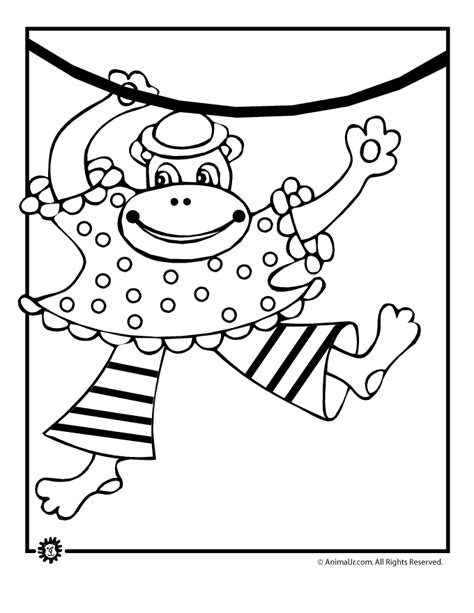 circus monkey coloring pages coloring pages monkey coloring home