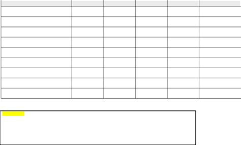 free templates blank chart template exle mughals