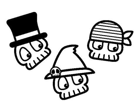imagenes de calaveras infantiles para dibujar dibujo de calaveras divertidas para colorear dibujos net