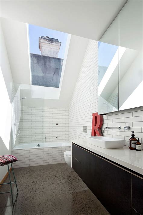 bathroom skylights melbourne design ideas atlite roof windows natural openable imanada altering a victorian terrace house into a breezy modern hub